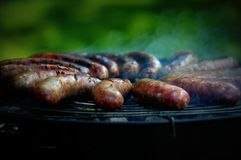 Bratwursts on the Grill Stock Photo