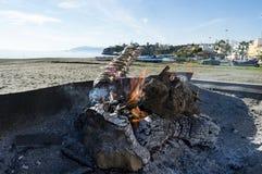 Bratsardinen auf dem Costa del Sol Stockfotografie