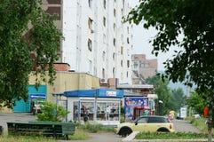 Bratsk, calle Fotos de archivo libres de regalías