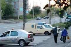 Bratsk, calle Imagen de archivo libre de regalías