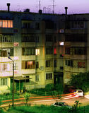 Bratsk, calle Foto de archivo