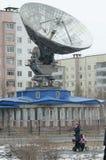 Bratsk, calle de Sovetskaya Foto de archivo libre de regalías