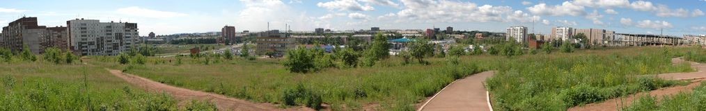 Bratsk, parco & x22; Metallurgov& x22; fotografia stock