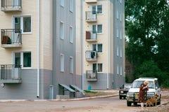 Bratsk, parco & x22; Metallurgov& x22; immagine stock libera da diritti
