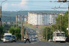 Bratsk, rua Imagem de Stock
