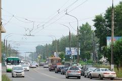 Bratsk, rue Photos libres de droits