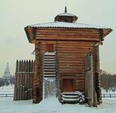 Bratsk Stockade Tower in former royal estate Kolomenskoye Royalty Free Stock Photo