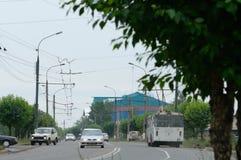 Bratsk, Straße Lizenzfreie Stockfotos