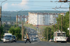 Bratsk, via immagine stock