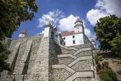 Bratslava castle in Slovakia Stock Image