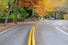 Brattle Street in the Fall Royalty Free Stock Images