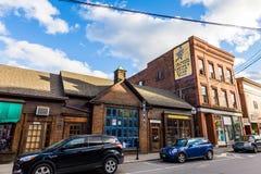 Brattleboro, Vermonts petit centre-ville confortable Photos stock