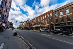 Brattleboro, Vermonts piccolo centro della città accogliente fotografie stock
