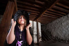 Bratty Little Child Witch Stock Photography