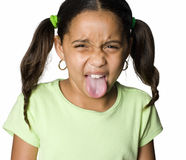 Bratty little girl Stock Photography