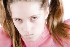 Bratty Young Girl Stock Photo
