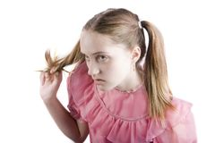 Bratty Young Girl Stock Photos