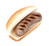 Bratwurst on a Bun Stock Photography