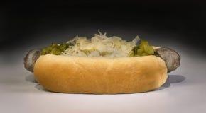 bratwurst piec na grillu Fotografia Stock