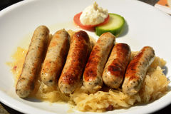 Bratwurst with sauerkraut Stock Image