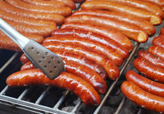 Bratwurst sausages Royalty Free Stock Photography