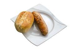 Bratwurste, salsicha do BBQ, Currywurst Fotografia de Stock
