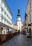 bratysława Slovakia Średniowieczna świętego Michael brama Fotografia Stock