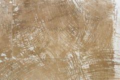 Brauenfleckbeschaffenheit auf Zementwandhintergrund Lizenzfreies Stockbild