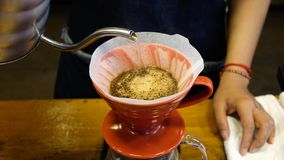 Brauenkaffee an einer Spezialitätenkaffeestube lizenzfreie stockbilder