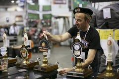 Brauer des großen britischen Bier-Festivals Stockfotos
