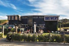Brauereigebäude in der Kleinstadt Oamaru auf Südinsel, Neuseeland lizenzfreie stockbilder