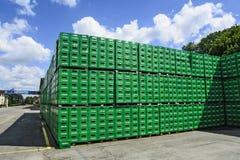 Brauereilager der Plastikverpackung Lizenzfreies Stockbild