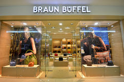 Braun Buffel entrance store Stock Images