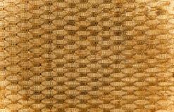 Braun e yelow textured pano de saco do fundo Fotografia de Stock