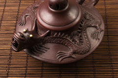 braune chinesische Teekanne Stockfotografie