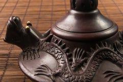 braune chinesische Teekanne Lizenzfreies Stockbild