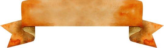 Braune Fahne des Aquarells Stockfotografie