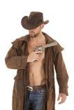 Braune Jacke der Pistole lizenzfreie stockbilder