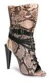 Braune Schuhe der Frau lizenzfreies stockbild