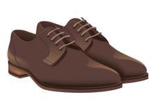 Braune Schuhe des Geschäfts für Mannillustration Lizenzfreie Stockfotografie