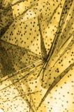 braune Spitze auf dem weißen Hintergrund, der die Neuheit von Spitze m vorstellt stockfotos