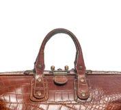 Braune Tasche der Griffe stockfoto