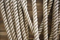 Brauner Beschaffenheitshintergrund des Seils Stockbilder