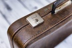 Brauner Koffer der Weinlese Lizenzfreies Stockfoto