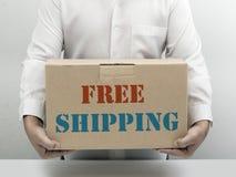 Brauner Papierkasten des freien Verschiffens Lizenzfreies Stockbild