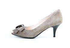 Brauner Schuh der Frau Stockfotografie