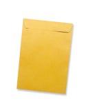 brauner Umschlag getrennt auf Weiß Lizenzfreies Stockbild