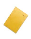 brauner Umschlag getrennt auf Weiß Lizenzfreie Stockfotografie