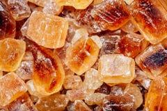 Brauner Zucker der Süßigkeit Lizenzfreies Stockfoto