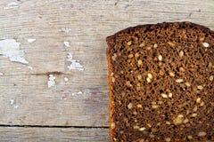 Braunes Brot des vollständigen Kornes Lizenzfreie Stockfotos